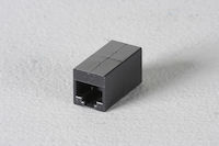 Cat6 Unshielded Straight-Pin Coupler Office Black