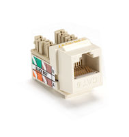 Gigatrue Plus Cat6 Jack Office White