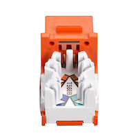 Gigatrue Cat6 Universal Jack, Orange