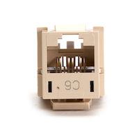 GigaTrue® CAT6 Keystone Jack - Telco Ivory