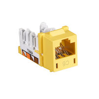Gigatrue Cat6 Universal Jack, Yellow