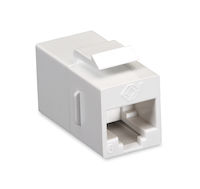 Cat6 Unshielded Straight-Pin Keystone Coupler White