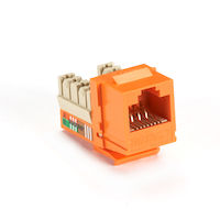 GigaBase® Plus CAT5e Keystone Jack - Unshielded, RJ45, Orange