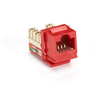 GigaBase® Plus CAT5e Keystone Jack - Unshielded, RJ45, Red