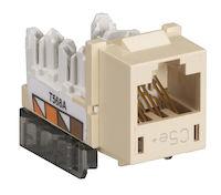 GigaBase® CAT5e Keystone Jack - Unshielded, RJ45, Telco Ivory