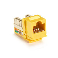 Cat5E Unshielded RJ45 Keystone Jack Yellow