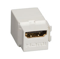 Snap Fitting - HDMI, Female/Female, Office White