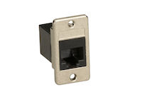 Panel Mount Cat6 Unshielded Coupler Black