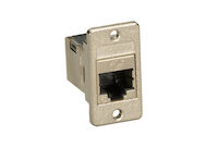Panel Mount Cat6 Shielded Coupler Silver