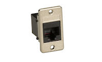 Panel Mount RJ11 4-Wire Unshielded Coupler Black