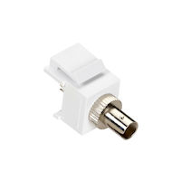 Snap Fitting Keystone ST Adapter White