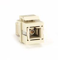 Snap Fitting Keystone SC Simplex Adapter Ivory