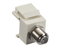 Keystone Snap Fitting - F-Connector, Office White