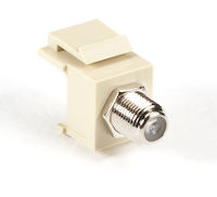 Snap Fitting Keystone F-Connector Ivory