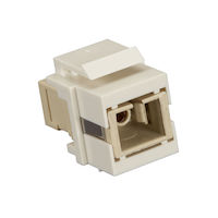 Snap Fitting Keystone SC Simplex Adapter - Office White