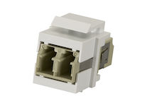 Snap Fitting Keystone LC Adapter White