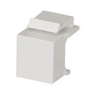 Snap Fitting Keystone Blank White 10-Packs