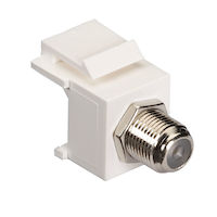Snap Fitting Keystone F-Connector White