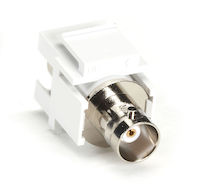 Keystone Snap Fitting - BNC, White
