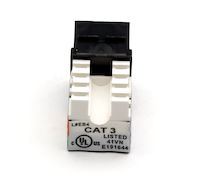 Cat3 Unshielded Keystone Jack Black