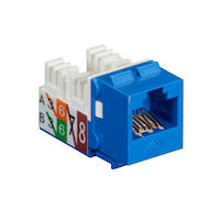 GigaTrue® 2 CAT6 Keystone Jack - Unshielded, 110 Punchdown Type, TAA, Blue, 25-Pack
