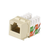 GigaTrue® 2 CAT6 Keystone Jack - Unshielded, 110 Punchdown Type, TAA, Ivory, 25-Pack