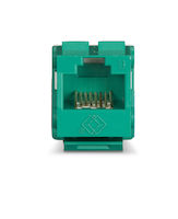 GigaTrue® 2 CAT6 Keystone Jack - Unshielded, 110 Punchdown Type, TAA, Green