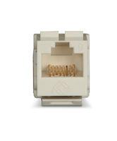GigaTrue® 2 CAT6 Keystone Jack - Unshielded, 110 Punchdown Type, TAA, Office White
