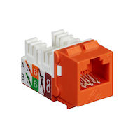Cat6 Unshielded Keystone Jack Orange 25-Pack