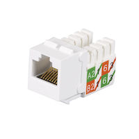 GigaTrue® 2 CAT6 Keystone Jack - Unshielded, 110 Punchdown Type, TAA, White