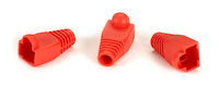 Snagless Cable Boot - Red, 50-Pack