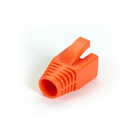 Snagless Boot - 8.0-mm, Orange, 50-Pack