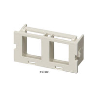 Surface-Mount Housing Adapter Bezel 2-Port Office White