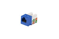 Cat5E Unshielded Keystone Jack Blue