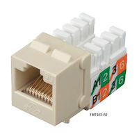 Cat5E Unshielded Keystone Jack Ivory 25-Pack