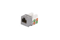 CAT5e Keystone Jack - Unshielded, Gray