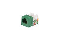 CAT5e Keystone Jack - Unshielded, Green