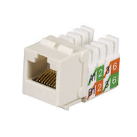 CAT5e Keystone Jack - Unshielded, Office White 25-Pack