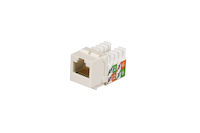 CAT5e Keystone Jack - Unshielded, Office White