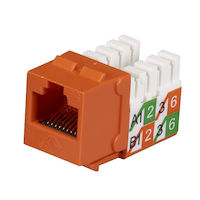 CAT5e Unshielded Keystone Jack - Orange, 25-Pack