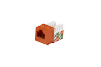 CAT5e Keystone Jack - Unshielded, Orange