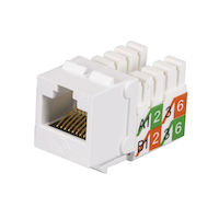 Cat5E Unshielded Keystone Jack White 25-Pack