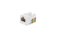 CAT5e Keystone Jack - Unshielded, White