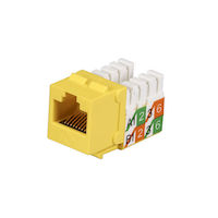 CAT5e Keystone Jack - Unshielded, Yellow 25-Pack