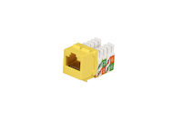 CAT5e Keystone Jack - Unshielded, Yellow