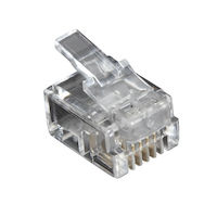 RJ11 Unshielded Modular Plug 4-Wire 100-Pack