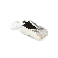 CAT6 Modular Plug for 23-AWG Wire - Shielded, RJ45, 100-Pack