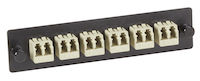 Fiber Adapter Panel 6 LC Duplex Bronze Sleeves Beige
