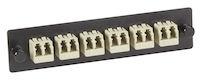 Fiber Adapter Panel 6 LC Duplex Bronze Sleeves Beige
