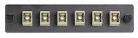 Connect Fiber Adapter Panel - Simplex, Bronze Sleeves, 6-Fiber